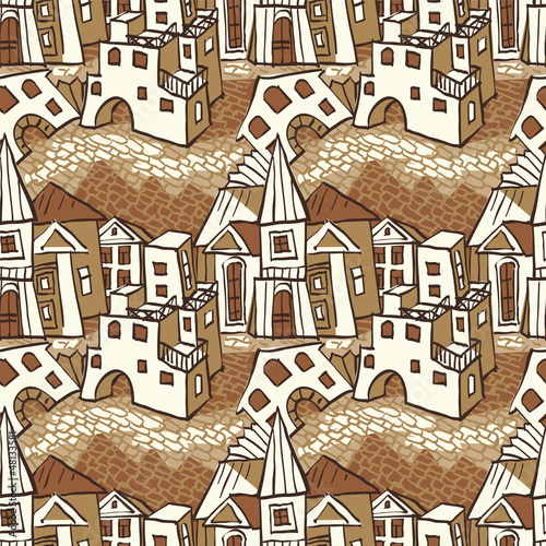 Seamless pattern-town