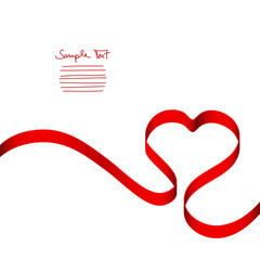 Red Heart Ribbon