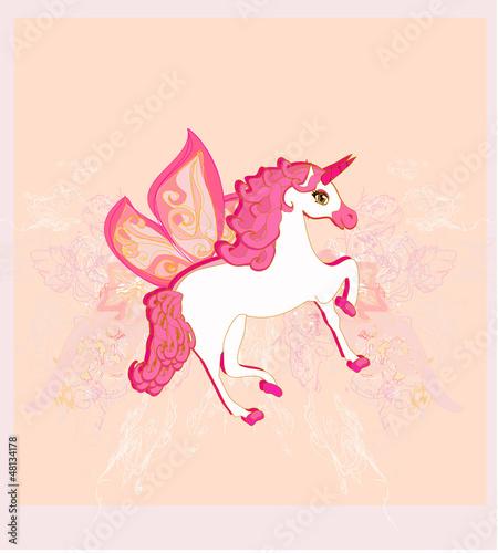 Poster Pony Vector Illustration of beautiful Unicorn.