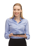 woman with tablet pc