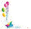 Luftballons, Karneval, Fasching, Rosenmontag, Narrenkappe - 48134772