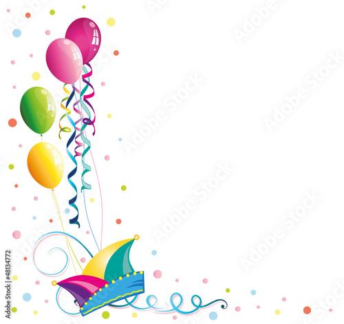 Luftballons, Karneval, Fasching, Rosenmontag, Narrenkappe