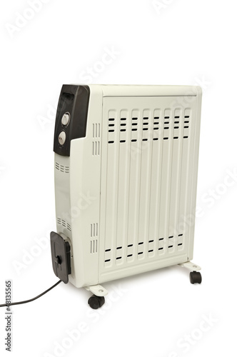 electric fire isolated on white background