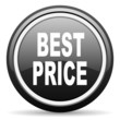 best price black glossy icon on white background