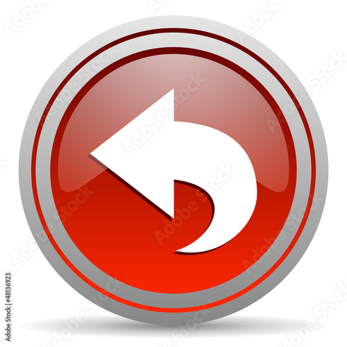 back red glossy icon on white background