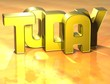 3D Word Today on yellow background