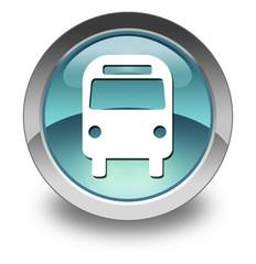 "Light Blue Glossy Pictogram ""Bus / Ground Transportation"""