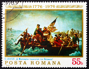 Postage stamp Romania 1976 Washington Crossing the Delaware