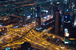 Dubai intersection from Burj Khalifa