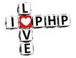 3D I Love PHP Crossword
