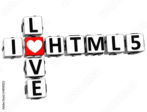 3D I Love HTML 5 Crossword