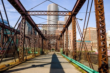 Old Steel Bridge in Boston