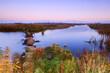 calm river at sunrise