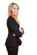 Lächelnde Geschäftsfrau im Anzug