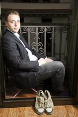 retrato en balcon