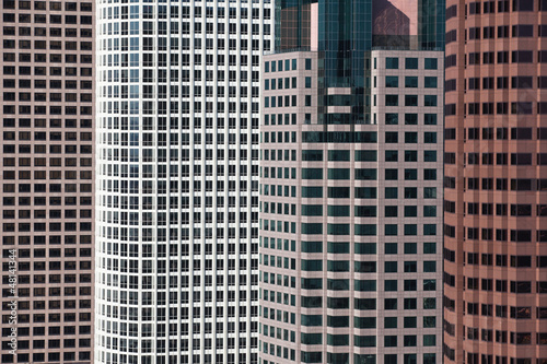 A detail of a modern high buildings in Los Angeles