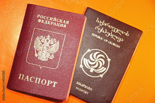 Georgian and Russian passports