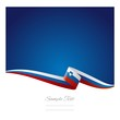Abstract color background Slovenian flag vector