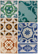 Old Ceramic tiles patterns from Portugal