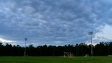 Time Lapse of Soccer Field in evening light