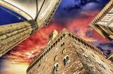 Palazzo Vecchio and Piazza della Signoria in Florence. Beautiful