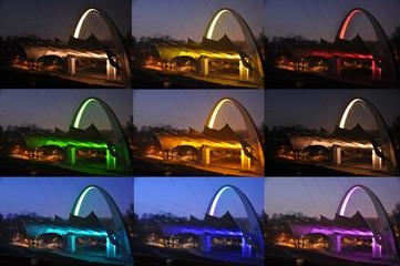 Szczecin - oświetlenie teatru letniego