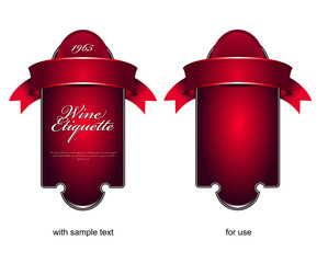 Vector etiquette background for wine or chocolate