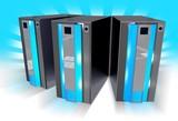 Three Blue Servers