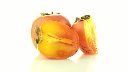 Red ripe persimmons