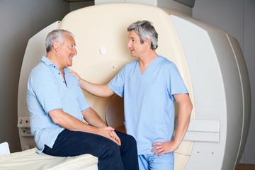 Senior Patient With Technician