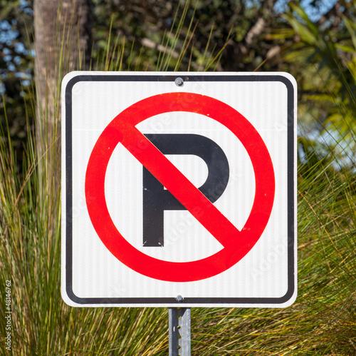 Parkverbot Schild USA I