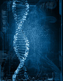 Fototapety Digital illustration of  dna