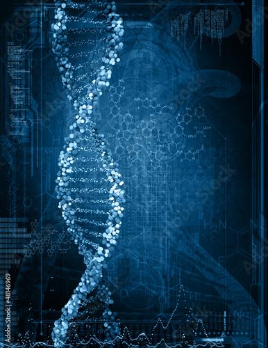 Digital-Illustration von DNA