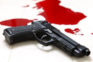 銃撃事件の犯行現場