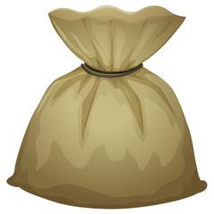 A brown pouch bag