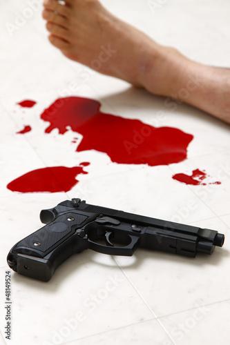 発砲事件の現場