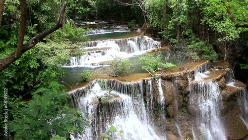 Huay Mae Kamin Waterfall in thai national park.