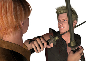 FIGHTING WITH SWORDS - 3D
