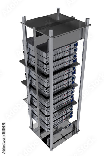 Silver Servers Rack