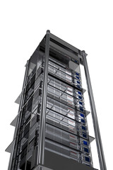 Servers Tower - Modern Metallic Server Rack