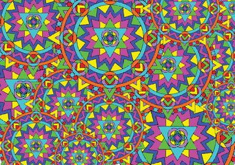 abstract vector background with magic mandala