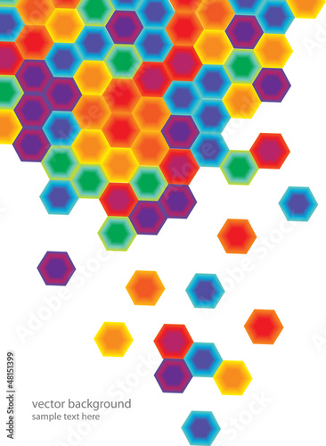 abstract background with colorful hexagonal combs