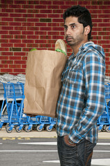 Man Grocery Shopping