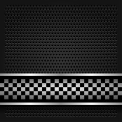 Metallic perforated sheet for race