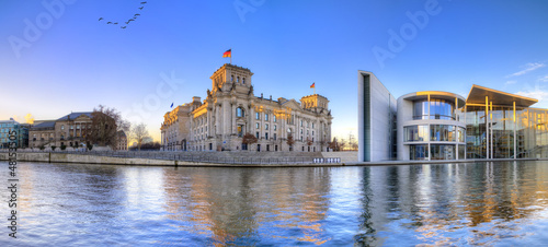 canvas print picture Berliner Reichstag als Panoramafoto