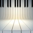 Leinwanddruck Bild - blank surface from piano keys