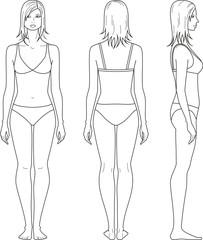 Vector illustration of woman's figure