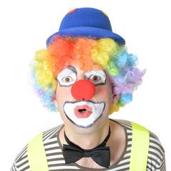 Überraschter Clown