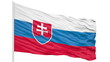 Looping of the Slovakia flag