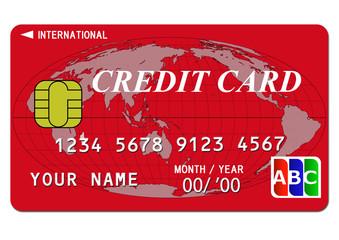 クレジットカード(赤)